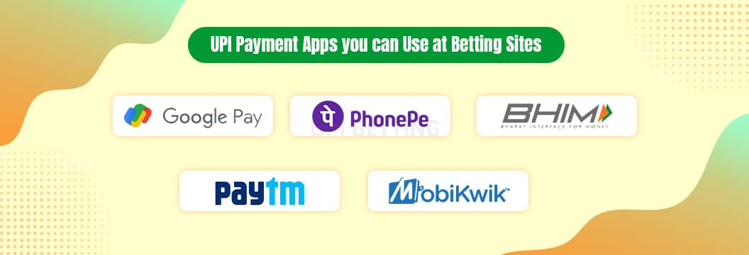 upi payment options and apps at betting sites